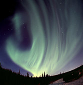 The Northern Lights appear in Wrangell St. Elias National Park