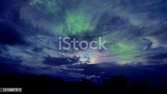An aurora, sometimes referred to as polar lights, northern lights or southern lights, is a natural light display in the Earth's sky, predominantly seen in the high-latitude regions.