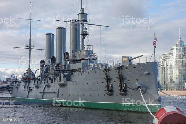 Aurora ship in St Petersburg