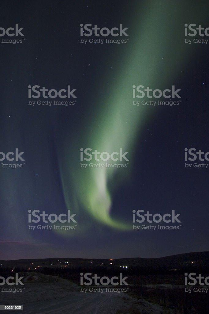 Aurora swirl royalty-free stock photo