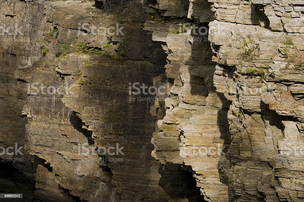 Ausable Chasm Cliff Face stock photo