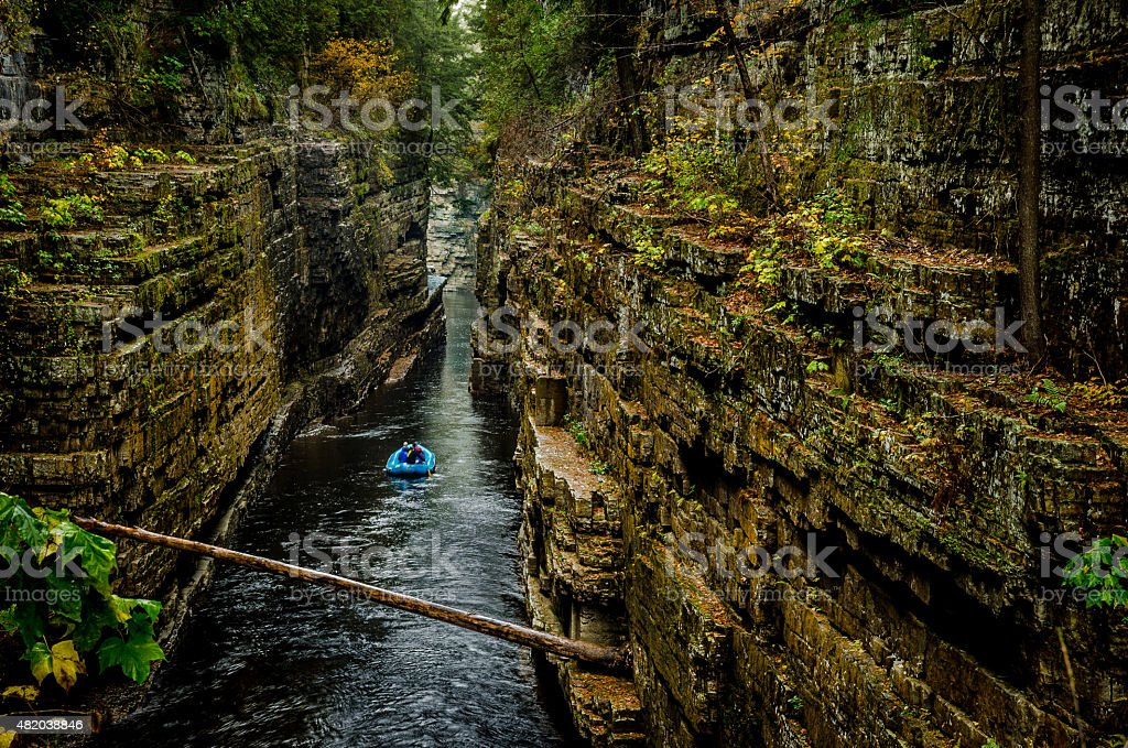 Ausable Chasm Gorge stock photo