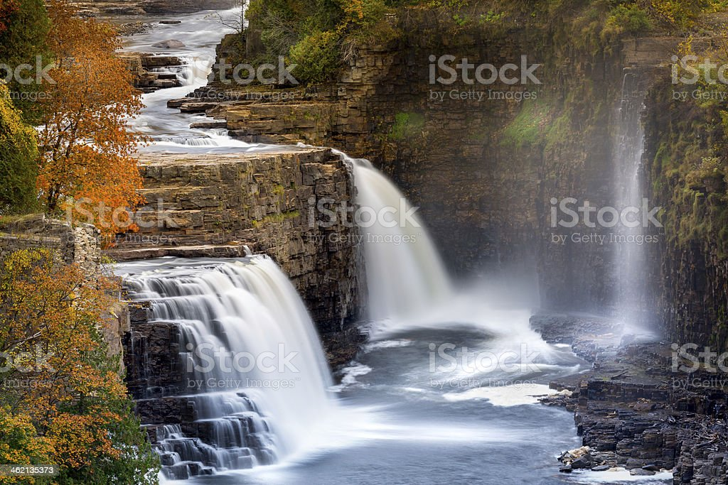 Ausable Chasm Waterfal stock photo