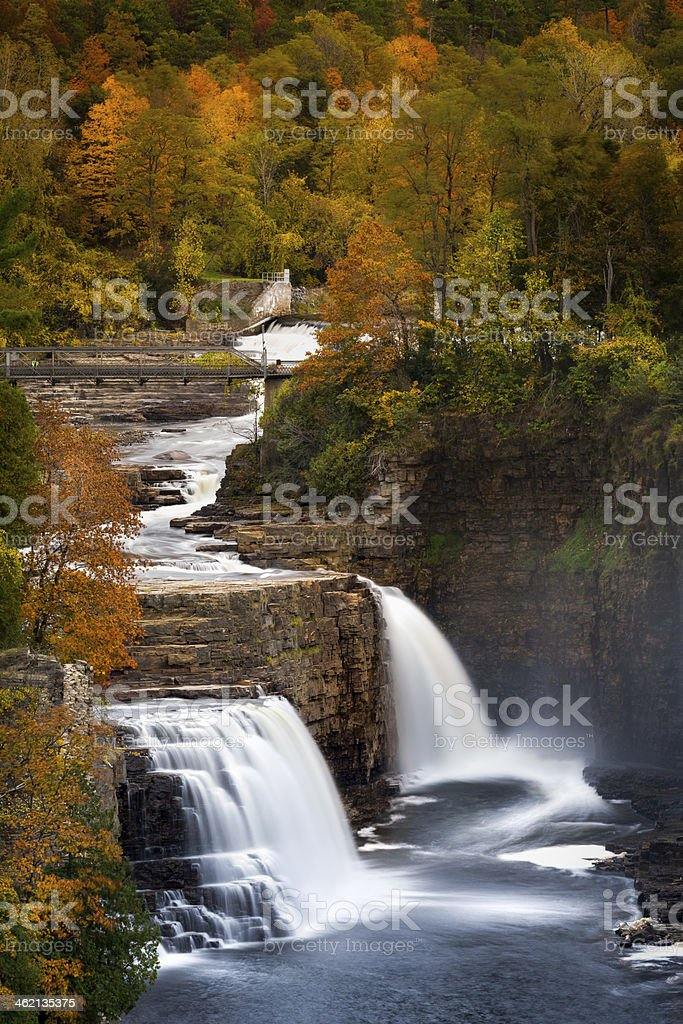 Ausable Chasm waterfall stock photo
