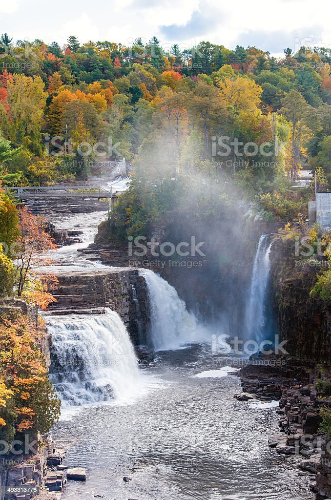 Ausable Chasm Waterfalls stock photo