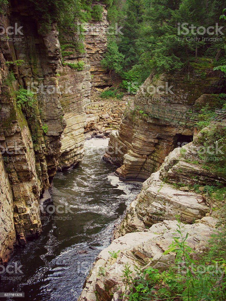 Ausable River, Ausable Chasm, New York stock photo