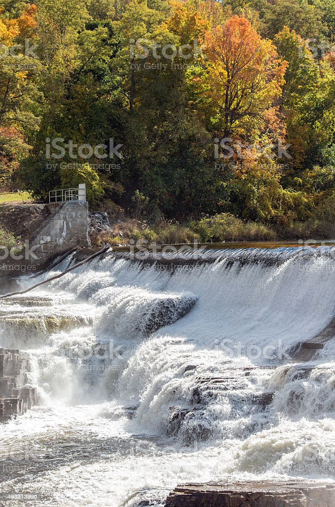 AuSable river waterfalls stock photo
