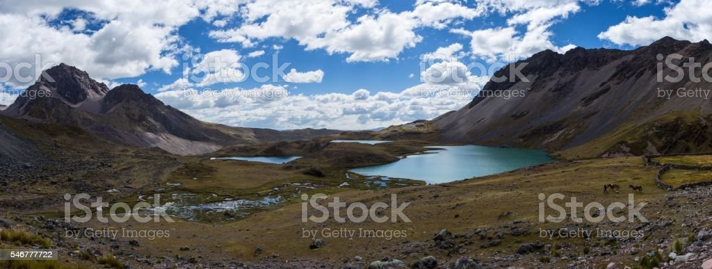 Ausangate Lakes stock photo