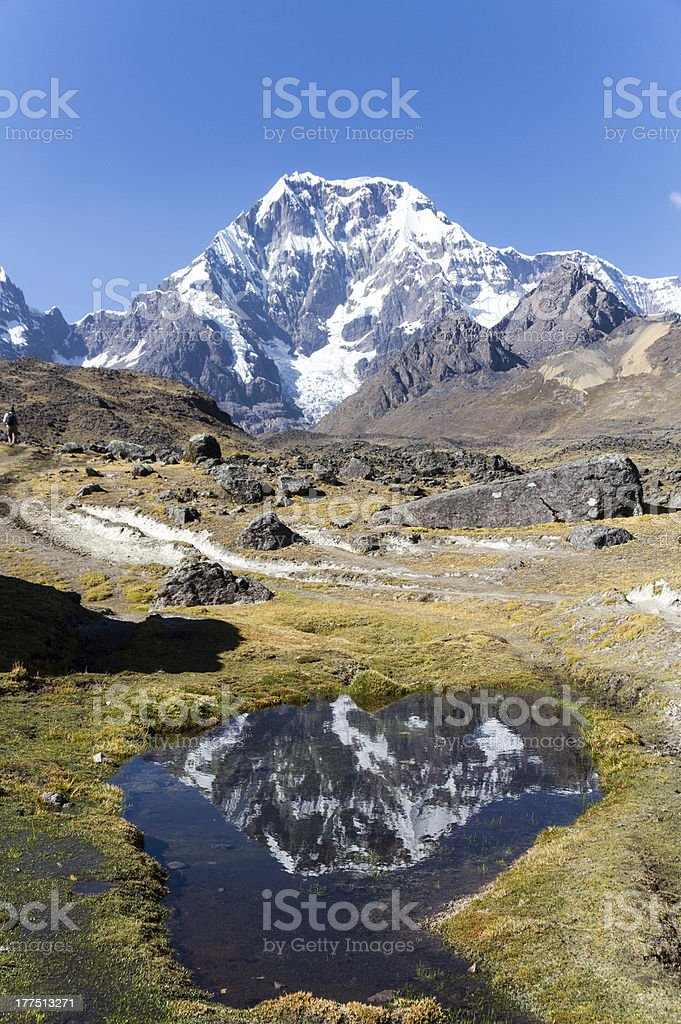 Ausangate : Mountain in the Andes stock photo