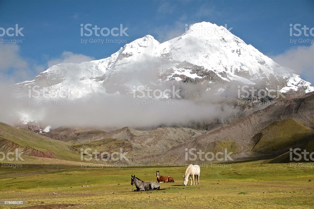 Ausangate Mountain landscape, Peru stock photo