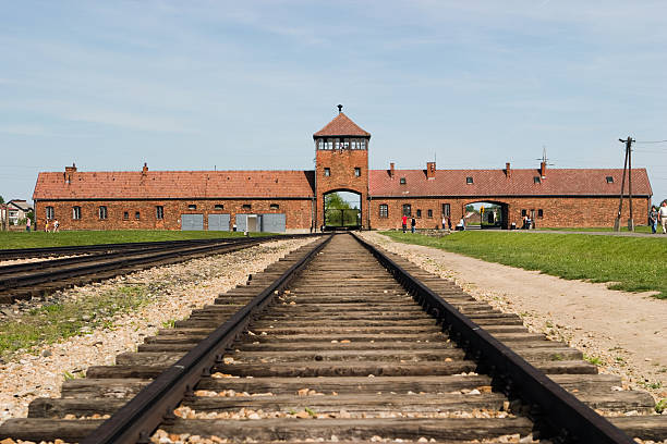 camp auschwitz birkenau - shoah photos et images de collection
