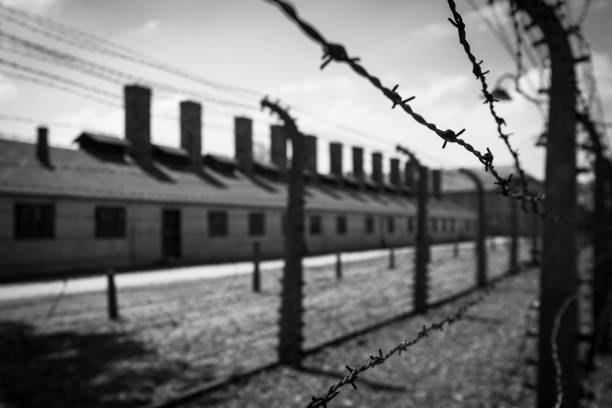 camp de concentration d'auschwitz. - shoah photos et images de collection