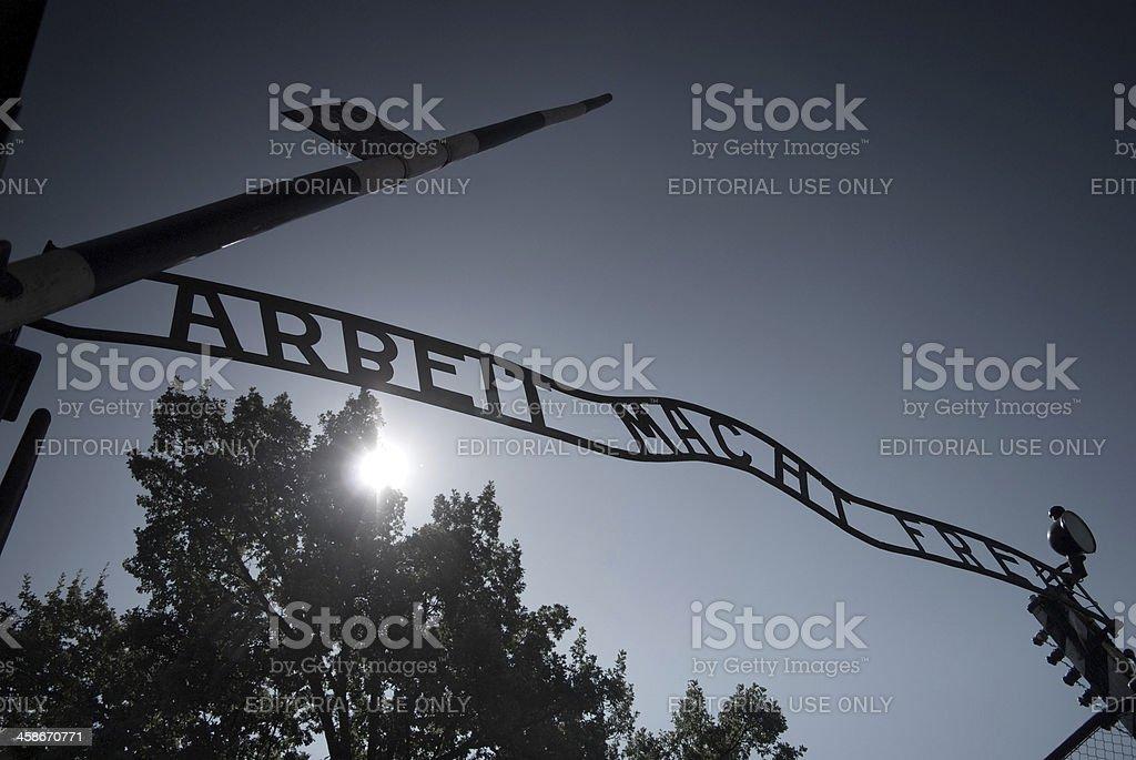 Auschwitz entrance gate - Royalty-free 2009 Stock Photo