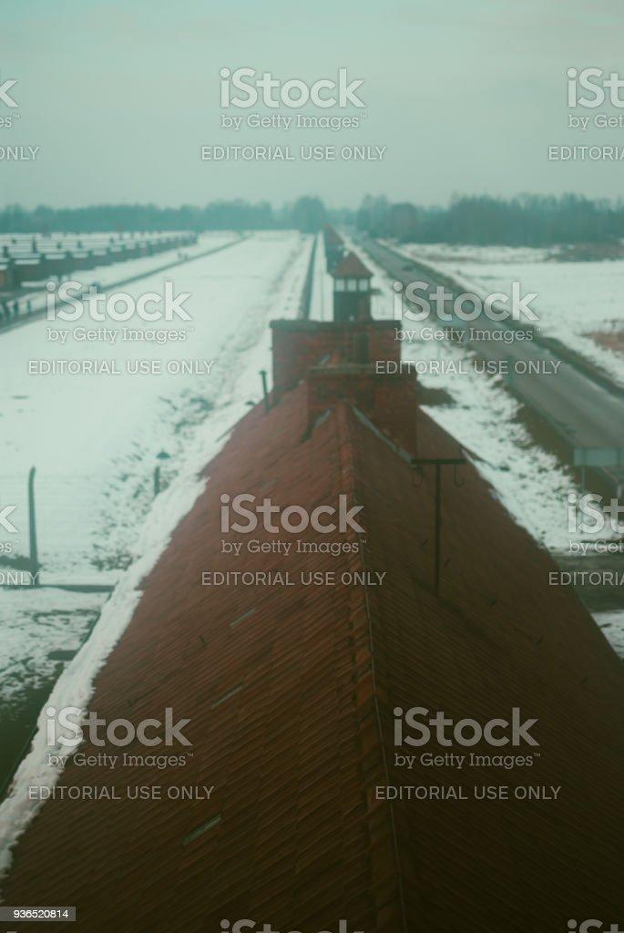 Auschwitz-Wände. Blick vom Aussichtsturm – Foto