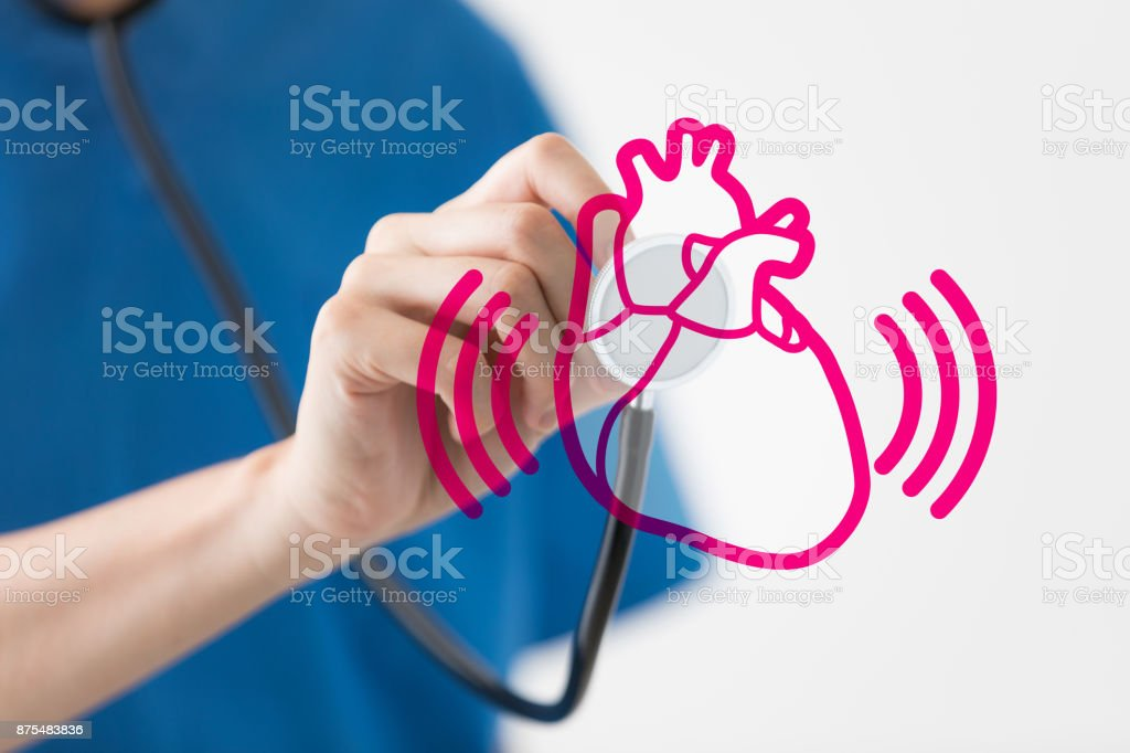 Auscultation. Medical checkup concept. stock photo