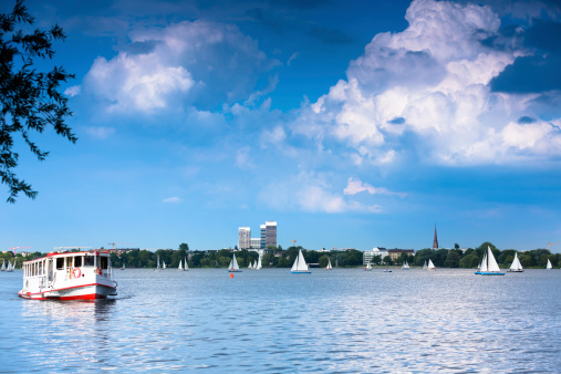 Aussenalster in Summer