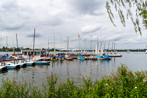 Aussenalster or Outer Alster Lake in Hamburg