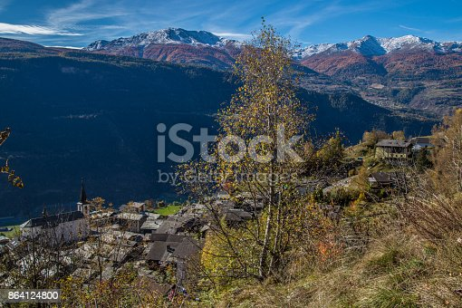 Ausserbergvalaisswiss Stock Photo & More Pictures of Autumn