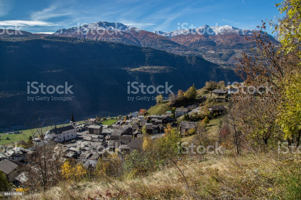 ausserberg,valais,swiss royalty-free stock photo