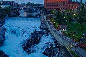 große Wasserfälle in Spokane Washington