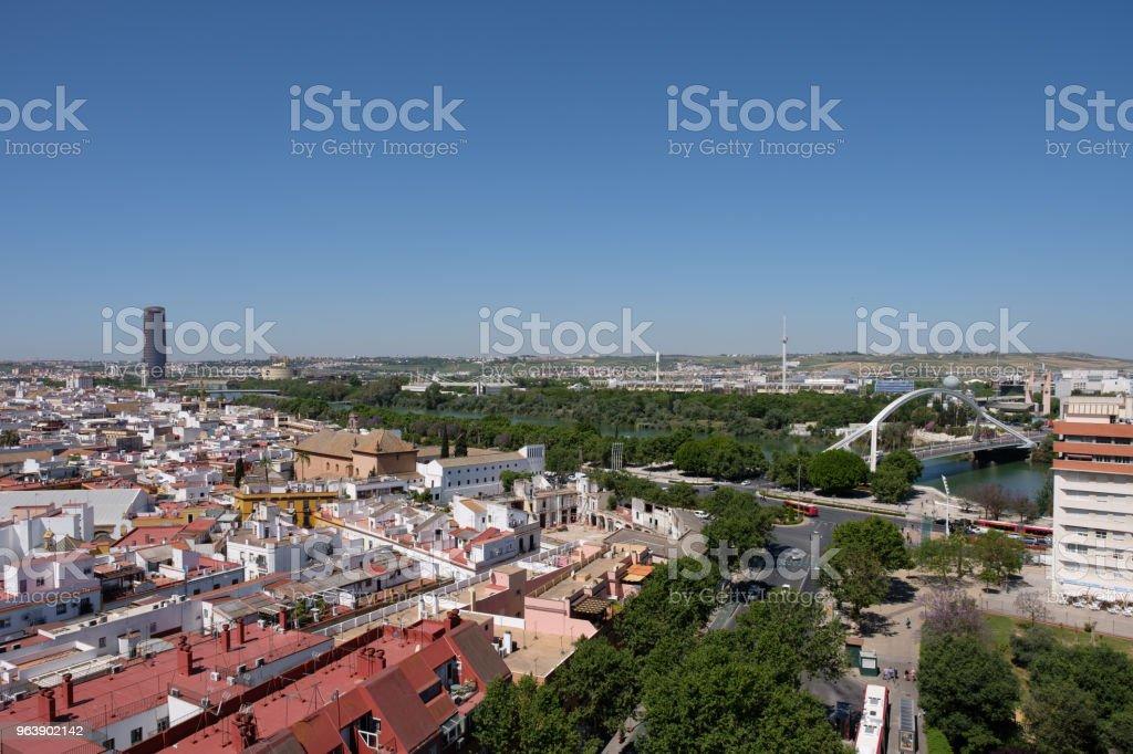 Aussicht vom Torre de los Perdigones in Sevilla, Spanien (Andalusien) - Royalty-free Aerial View Stock Photo