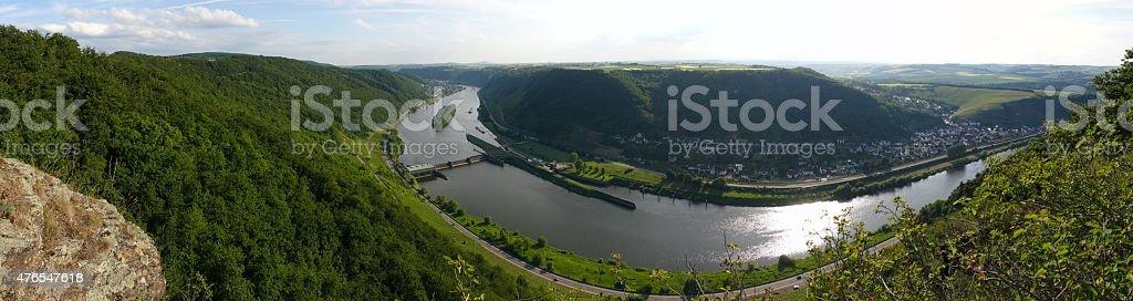 Aussichtspunkt Untermosel, Hitzlay stock photo