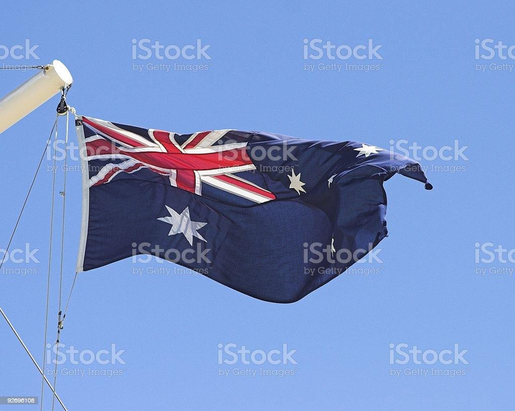 Aussie Flag royalty-free stock photo