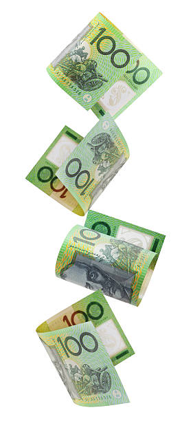 Aussie Hundreds Falling stock photo