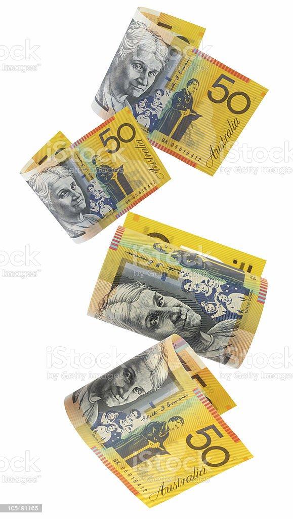 Aussie Money, Falling stock photo