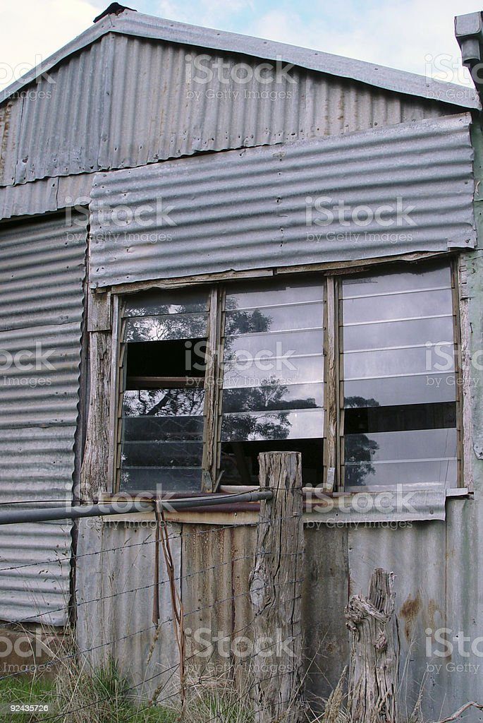 Aussie shed royalty-free stock photo