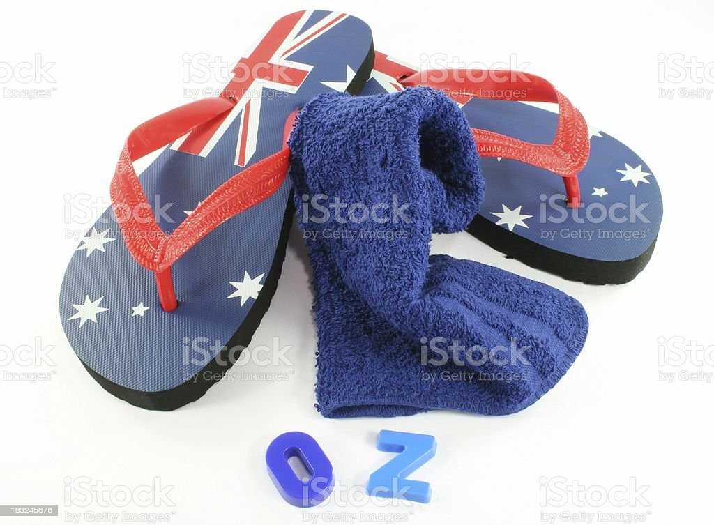 aussie thongs australia day - Royalty-free Australia Stock Photo