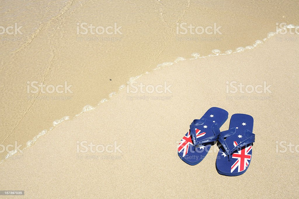 Aussie Thongs stock photo