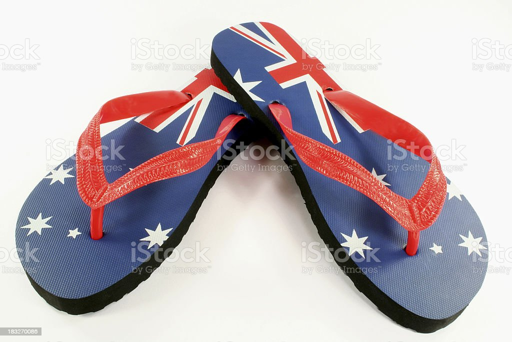 aussie thongs with australian flag royalty-free stock photo