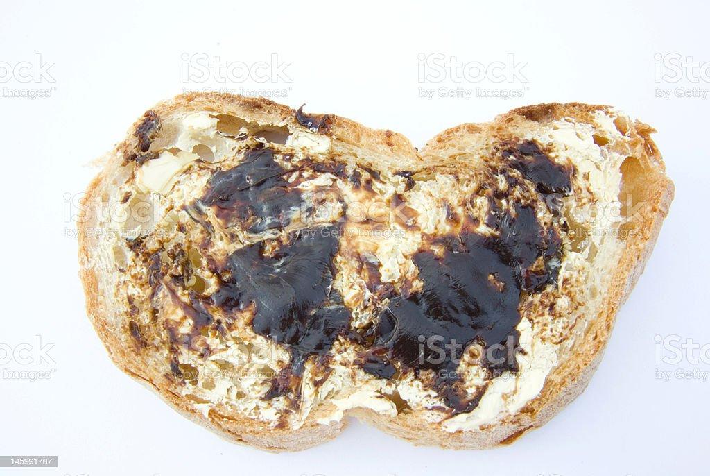 Aussie Vegemite Sandwich royalty-free stock photo