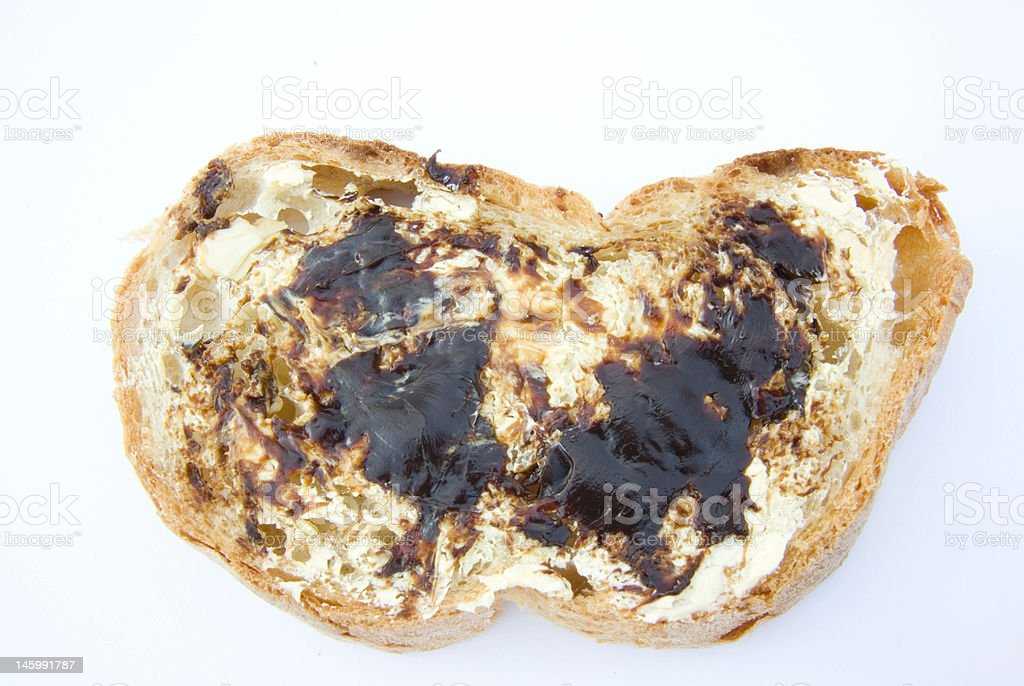 Aussie Vegemite Sandwich stock photo