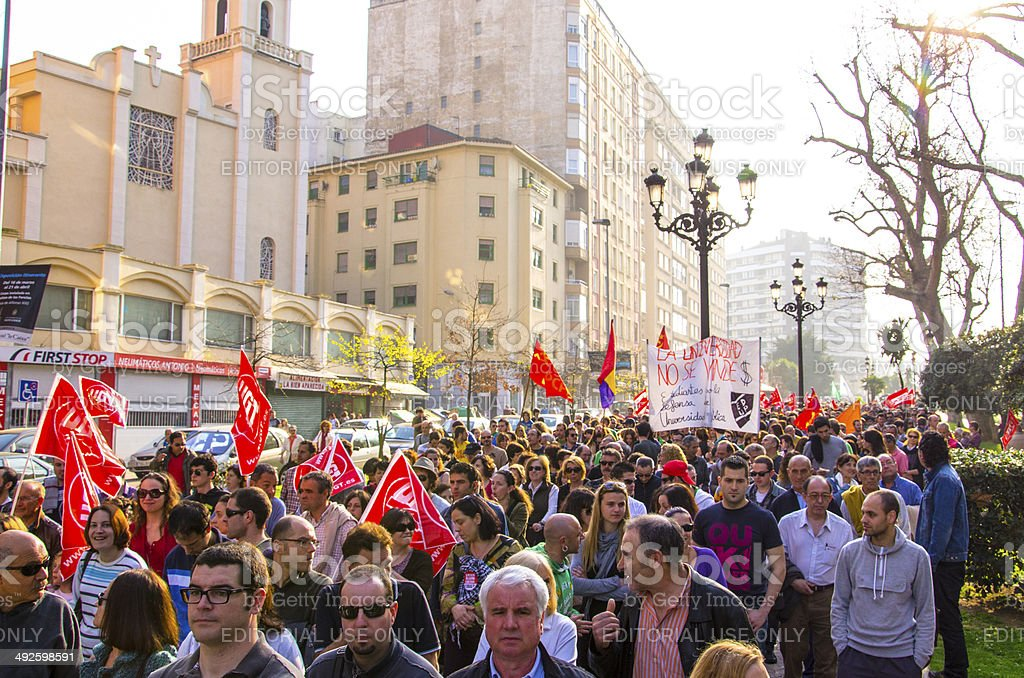 Austerity protests stock photo