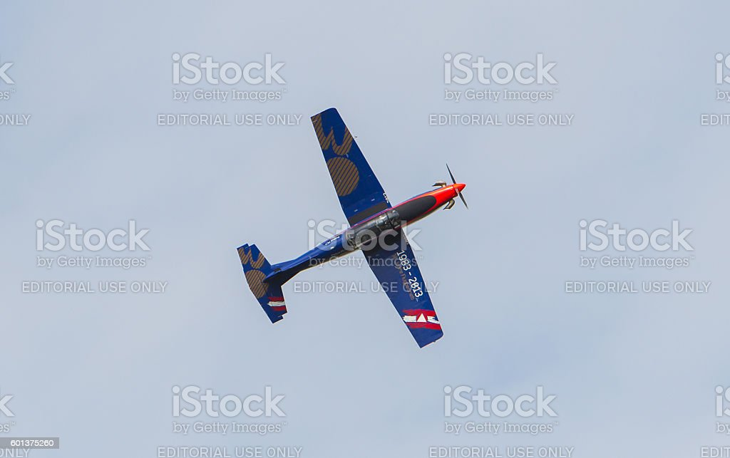 Austian PC-7 Pilatus stock photo