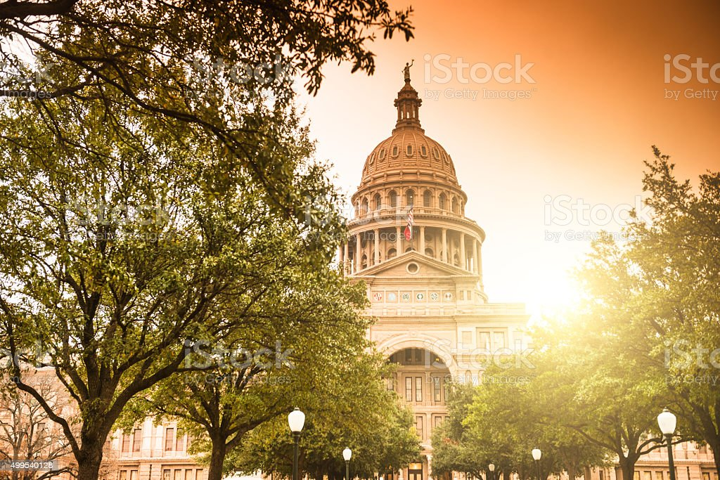 Austin capitol hill stock photo