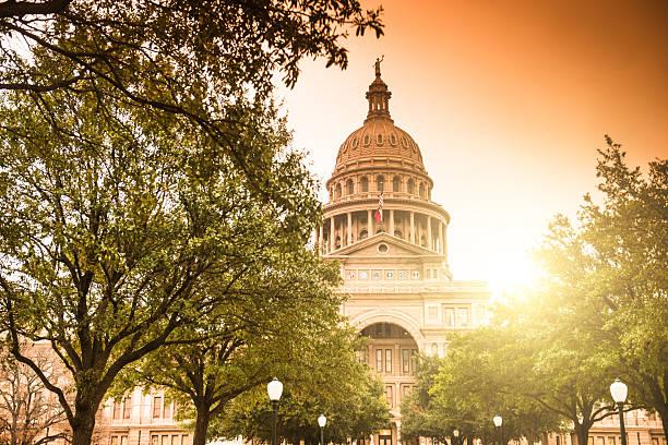 Austin capitol hill - foto de acervo