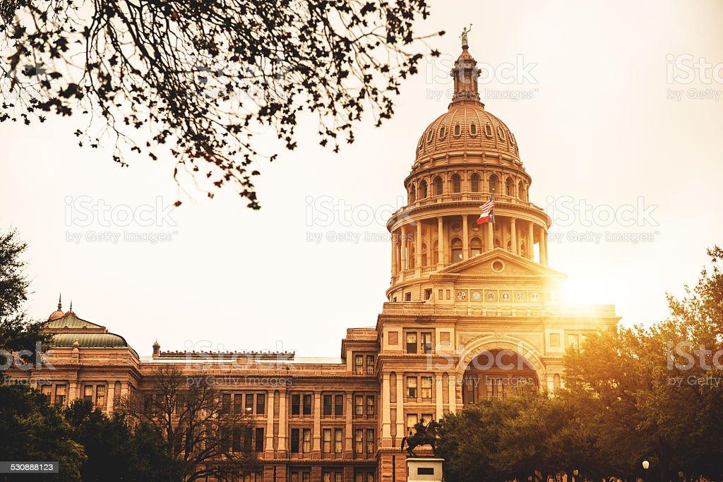 Austin capitol hill stock photo