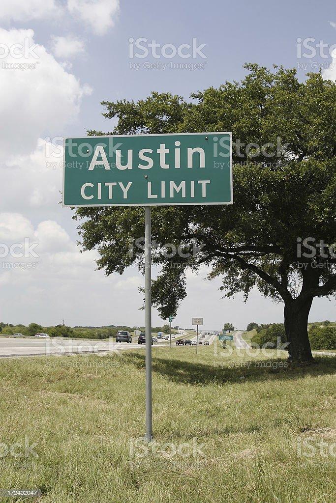 Austin City Limit Sign stock photo