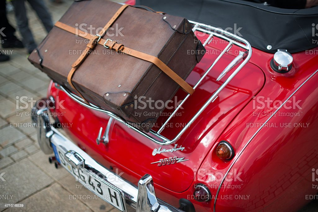 Austin Healey 3000 - classic car detail royalty-free stock photo