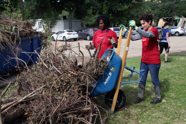 Austin Memorial Day Flood Recovery, May, 30, 2015 stock photo