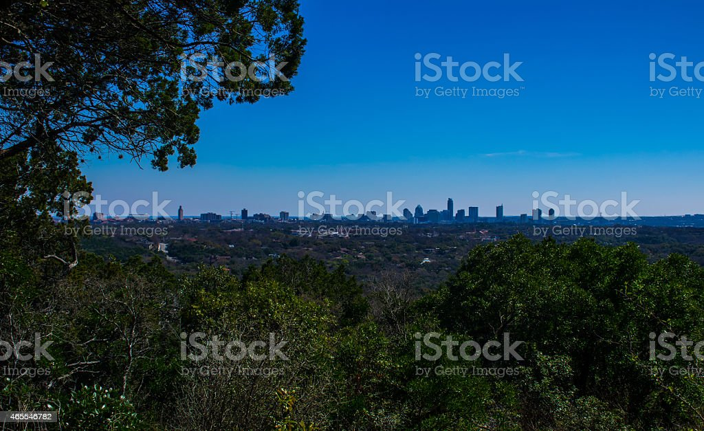Austin Rare Mount Bonnell Angle stock photo