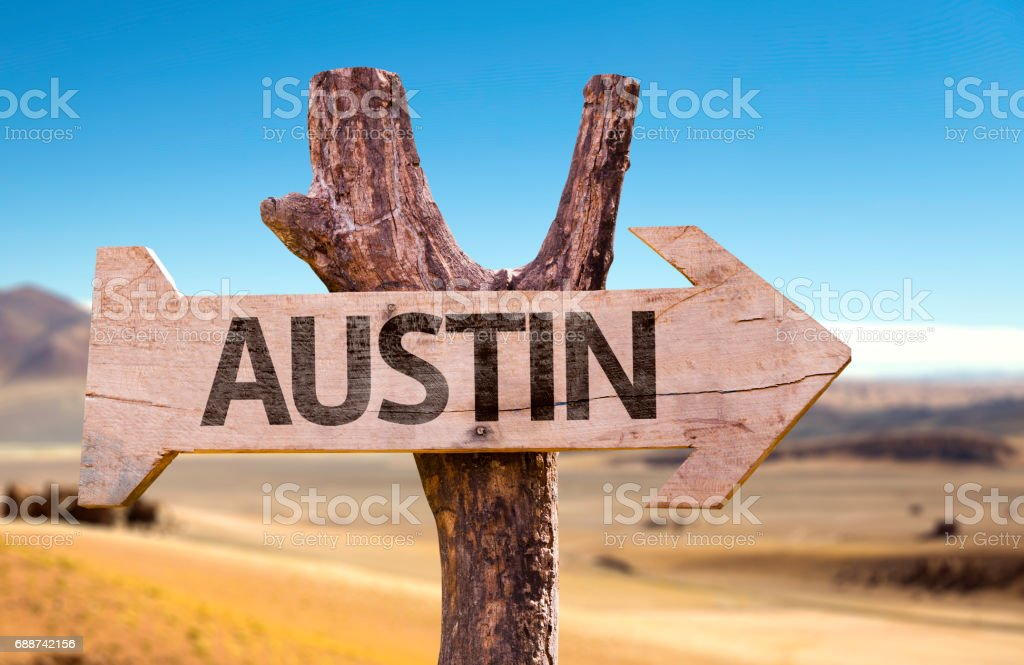 Austin sign stock photo