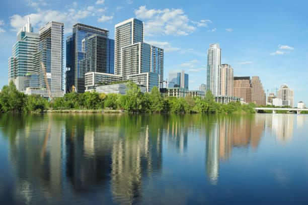 Austin Skyline - Texas stock photo