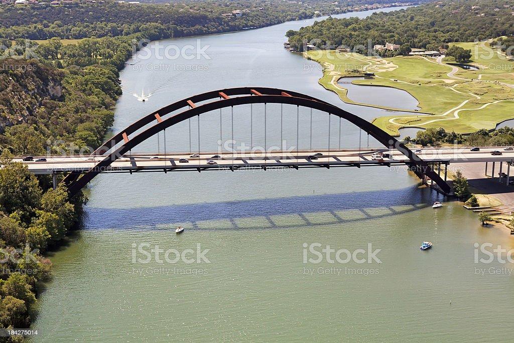 Austin Texas 360 Bridge Aerial royalty-free stock photo