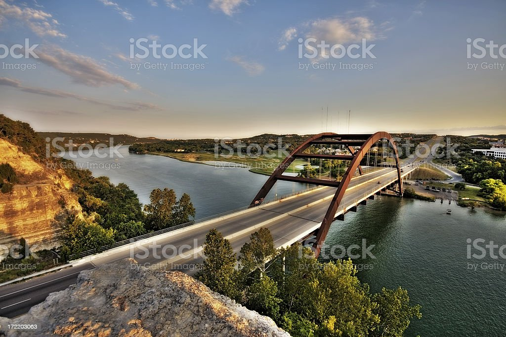Austin, Texas 360 Bridge stock photo