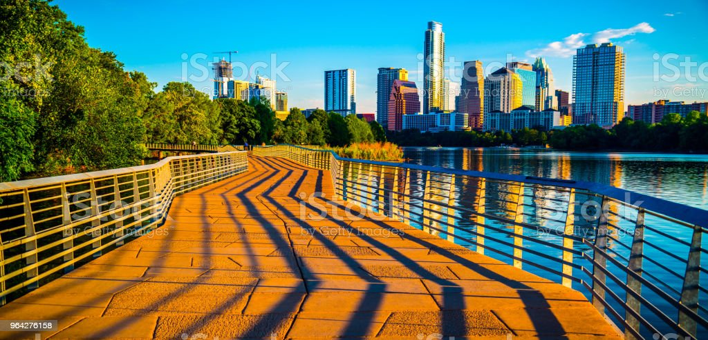 Austin Texas Abstract Lines leading into the Skyline stock photo