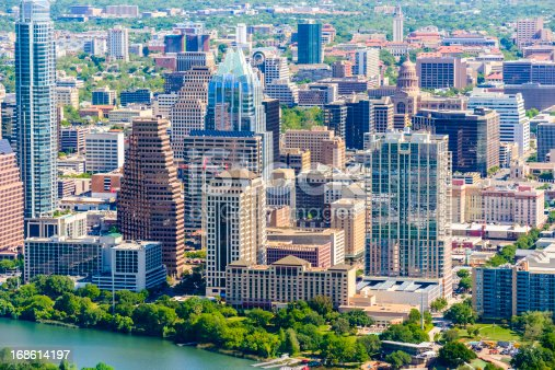 istock Austin Texas downtown cityscape skyline aerial view 168614197